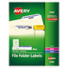 Avery® Permanent TrueBlock® File Folder Labels with Sure Feed™ Technology