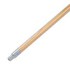 Boardwalk® Metal Tip Threaded Hardwood Broom Handle