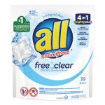 All® Mighty Pacs Free and Clear Super Concentrated Laundry Detergent