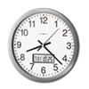 Howard Miller® Chronicle Wall Clock with LCD Inset