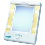 2-Sided Makeup Mirror with 4 Light Settings
