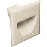 2-Gang Recessed Cable Plate (Light Almond)