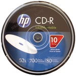 700MB 80-Minute 52x Printable CD-Rs, 10-ct Spindle