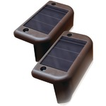 Solar-Powered Deck Lights, 4 pk