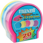 Slim CD/DVD Shell Cases, 20 pk (Assorted Colors)