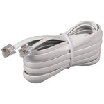 White Phone Line Cord (15ft)