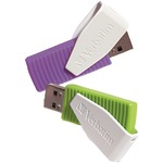 Store 'n' Go(R) Swivel USB Drives (16GB; 2 pk; Green/Violet)